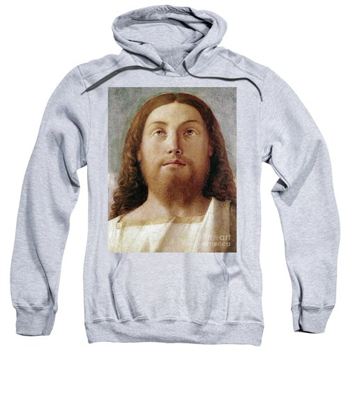 The Redeemer Detail Of A Painting By Giovanni Bellini  Sweatshirt