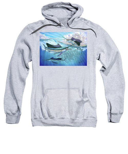 Three Sailfish And Bait Ball Sweatshirt