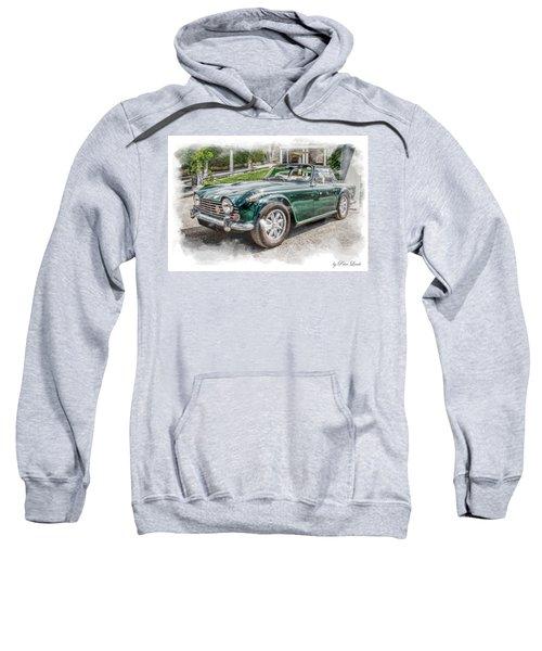 Triumph Tr5 At Roman Gardens Sweatshirt