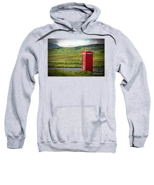 Typical Red English Telephone Box In A Rural Area Near A Road. Sweatshirt