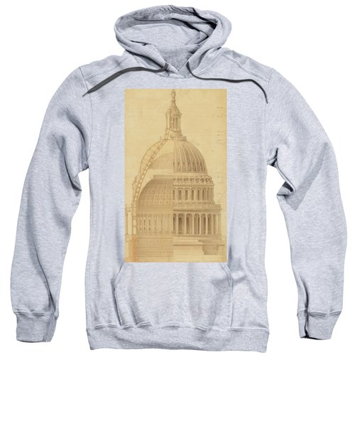 United States Capitol, Section Of Dome, 1855 Sweatshirt