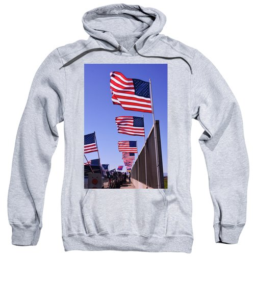 U.s. Flags, Presidents Day, Central Valley, California Sweatshirt