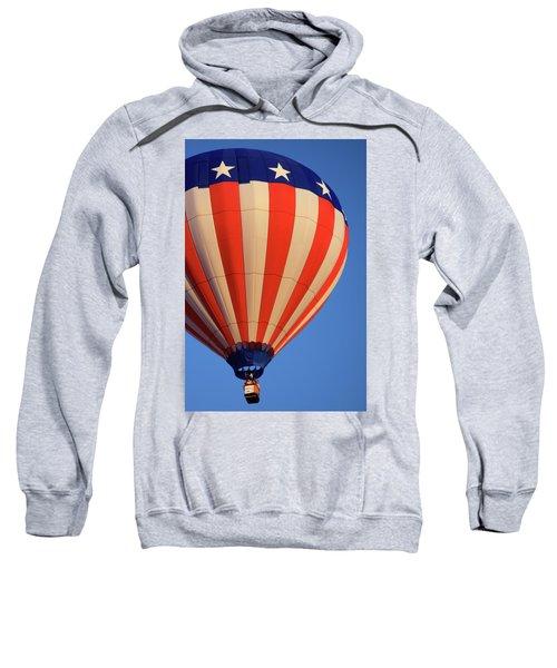 Usa Patriotic Hot Air Balloon Sweatshirt
