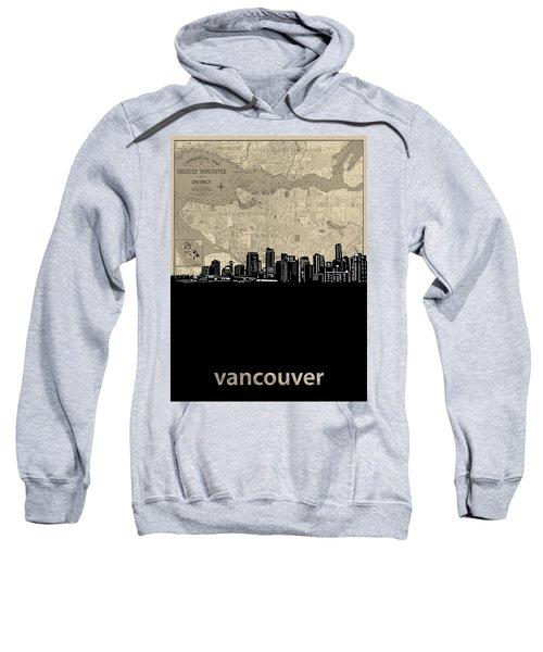 Vancouver Skyline Map Sweatshirt