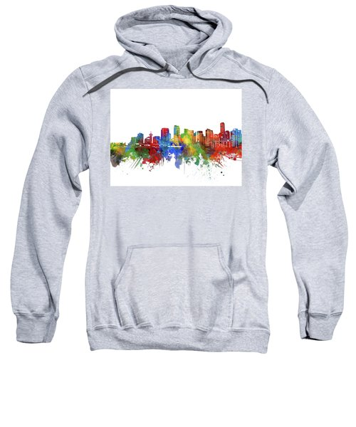 Vancouver Skyline Watercolor 2 Sweatshirt