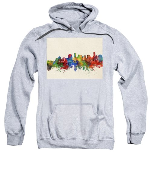 Vancouver Skyline Watercolor Sweatshirt