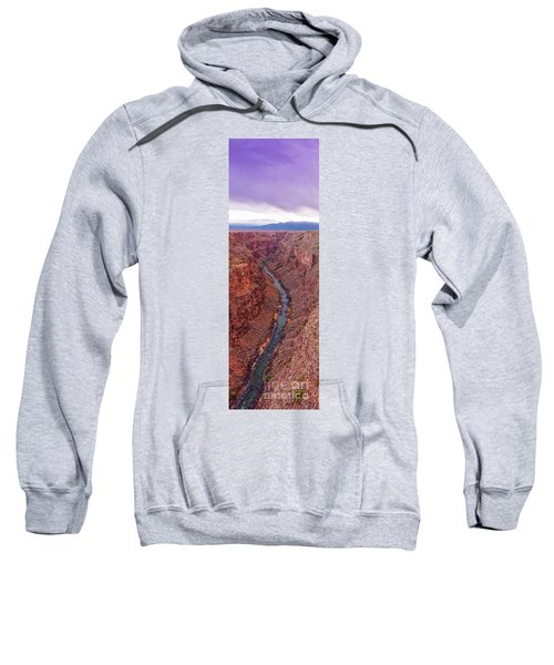 Vertical Panorama Of Rio Grande Gorge Picuris Peak And Sangre De Cristo - Taos County New Mexico  Sweatshirt