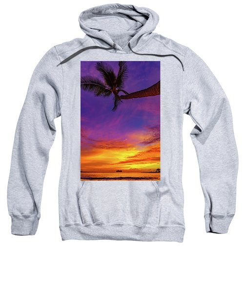 Vibrant Kona Inn Sunset Sweatshirt