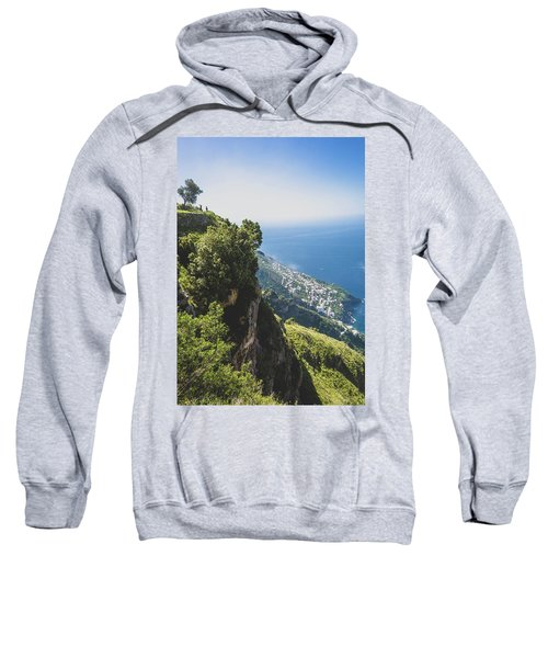 View Of Amalfi Italy From Path Of The Gods Sweatshirt