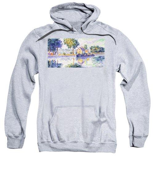 View Of The Seine, Samois - Digital Remastered Edition Sweatshirt
