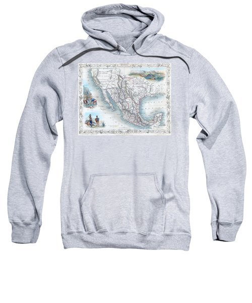 Vingage Map Of Texas, California And Mexico Sweatshirt