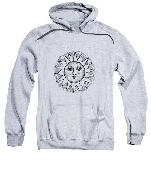 Vintage Celestial Sun Face Sweatshirt