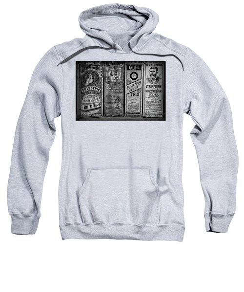 Vintage Medicine Laxatives And Constipation Black And White Sweatshirt