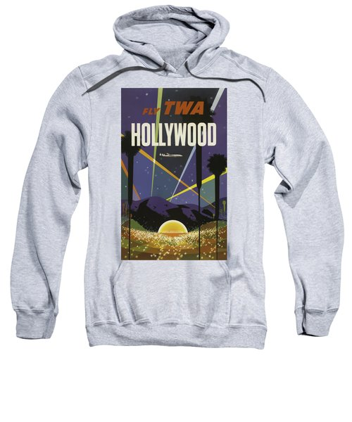 Vintage Travel Poster - Hollywood Sweatshirt