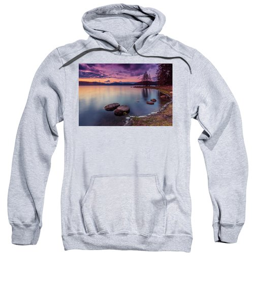 Sweatshirt featuring the photograph Violet Dusk by Evgeni Dinev
