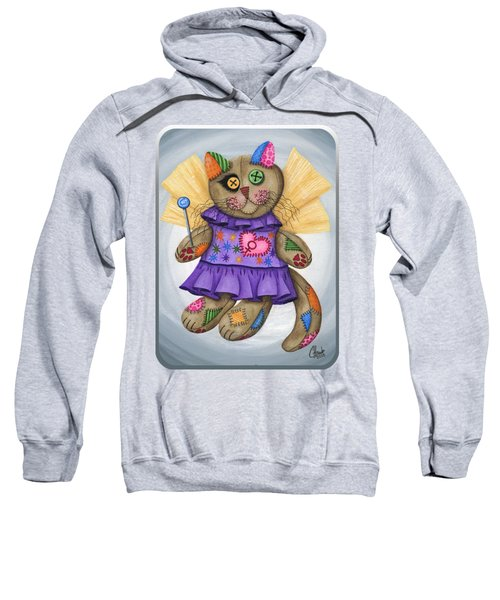 Voodoo Empress Fairy Cat Doll - Patchwork Cat Sweatshirt