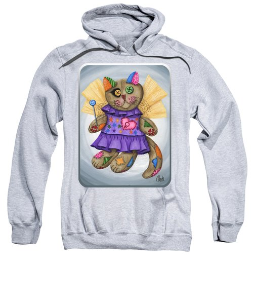 Voodoo Empress Fairy Cat Doll - Patchwork Cat Sweatshirt