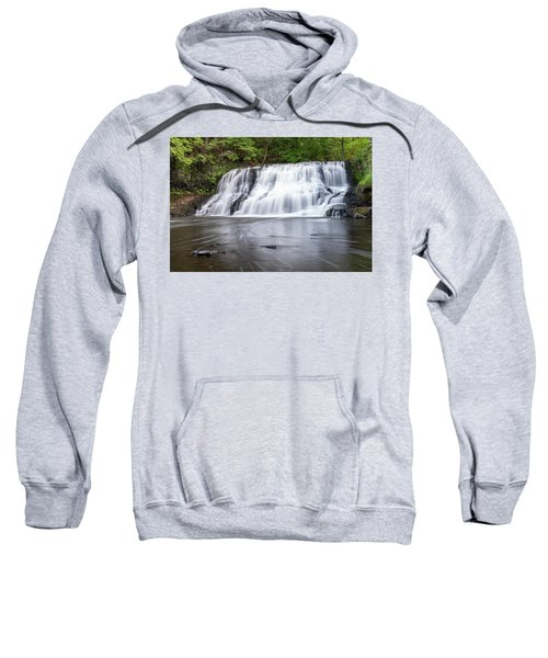 Wadsworth Falls In Middletown, Connecticut U.s.a.  Sweatshirt