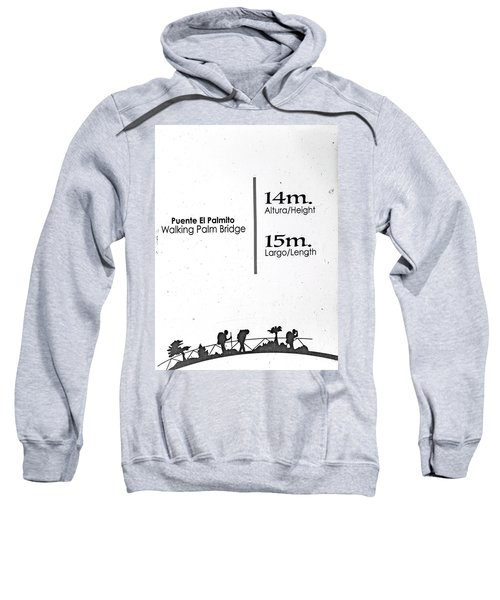 Walking Palm Bridge Sign Sweatshirt