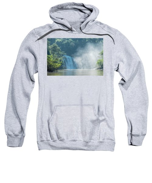 Waterfall, Sunlight And Mist Sweatshirt