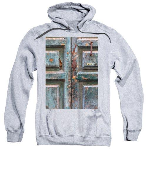 Weathered Rustic Green Door Of Cortona Sweatshirt