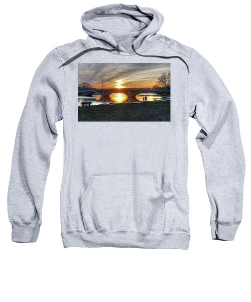 Weeks Bridge At Sunset Sweatshirt