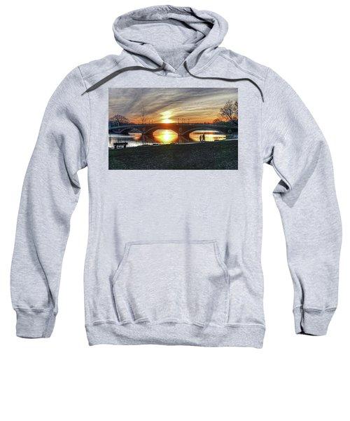 Weeks Bridge At Sunset Sweatshirt