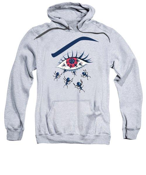 Weird Creepy Red Eye With Crawling Ants Sweatshirt