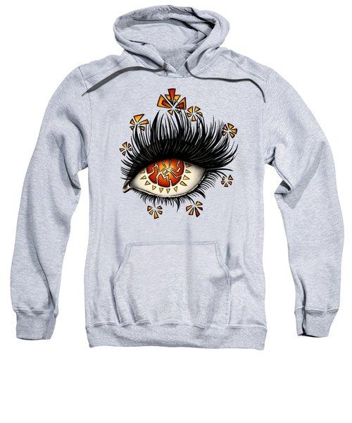 Weird Psychedelic Eye Of Fractured Lava Sweatshirt