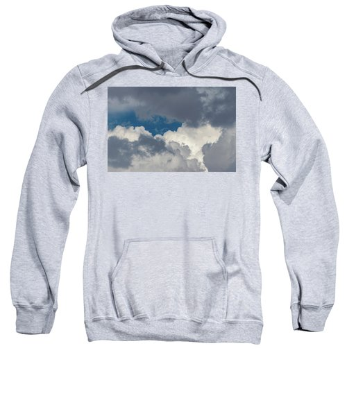 White And Gray Clouds Sweatshirt