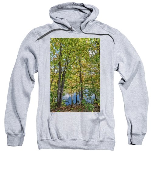 White Clouds Reflected In Rippling Water Sweatshirt