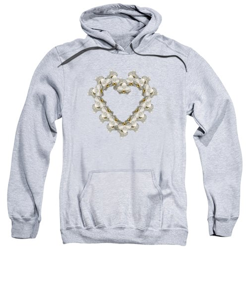 White Orchid Floral Heart Love And Romance Sweatshirt