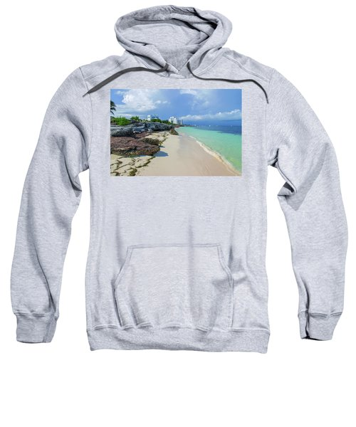 White Sandy Beach Of Cancun Sweatshirt