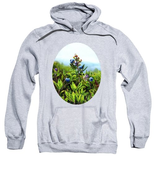 Wild Maine Blueberries  Sweatshirt