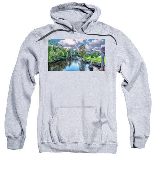 Willimantic River With Clouds Sweatshirt