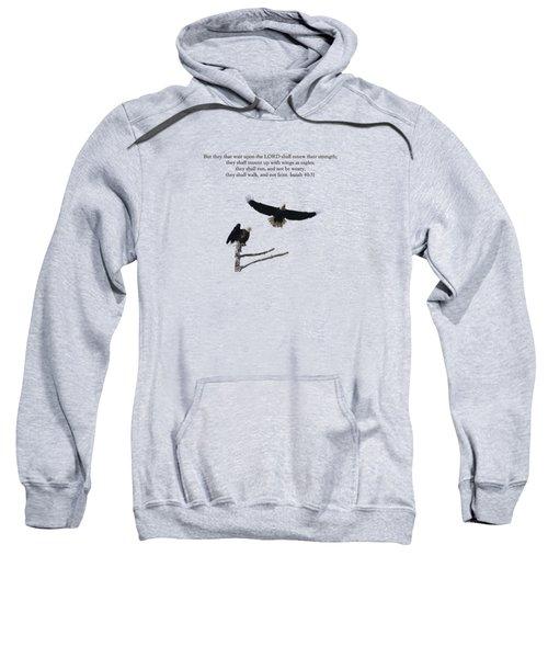 Wings Like Eagles Isaiah 40 31 Sweatshirt