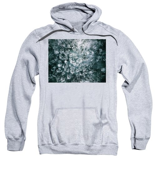 Winter Forest - Aerial Photography Sweatshirt