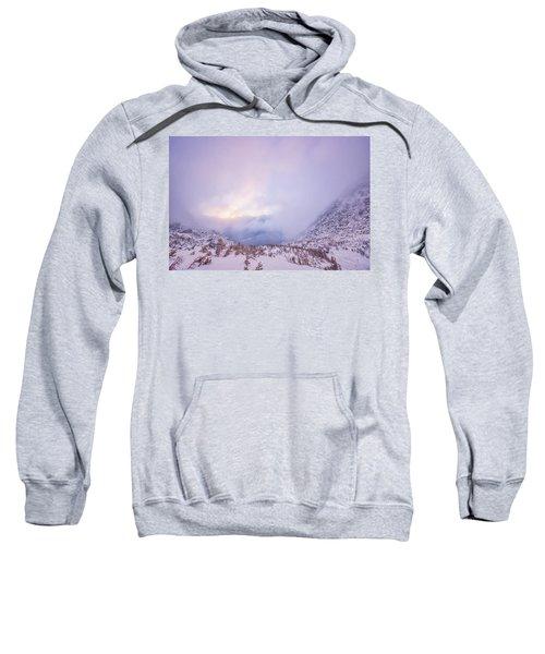 Winter Morning Light Tuckerman Ravine Sweatshirt