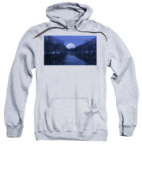 Winter Night On The Pond Sweatshirt