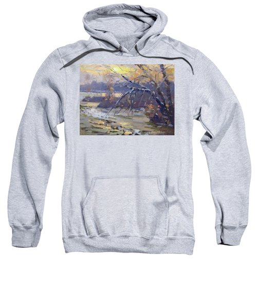 Winter Sunset By Niagara River Sweatshirt