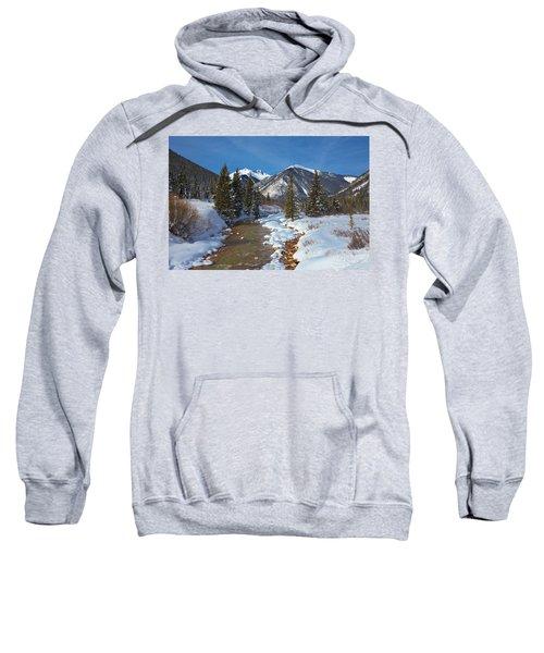 Winter Wonderland On Mineral Creek Sweatshirt