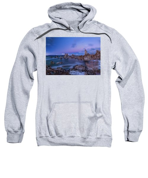 Winter's Eve At Mono Lake Sweatshirt