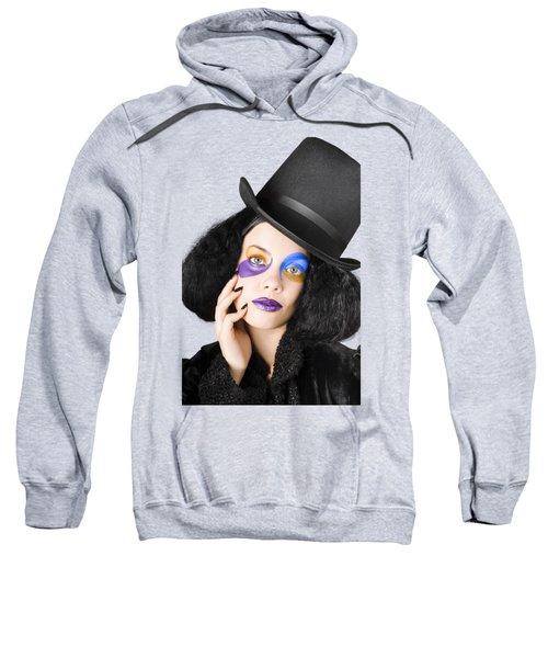Woman Dressed As Jester Sweatshirt