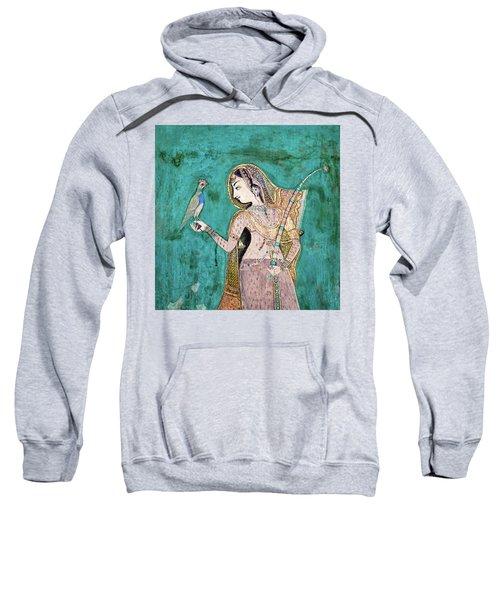 Woman With Parrot Sweatshirt
