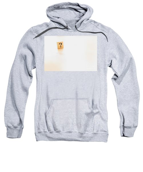 Wooden Dice With Question Mark And Doubt. Sweatshirt