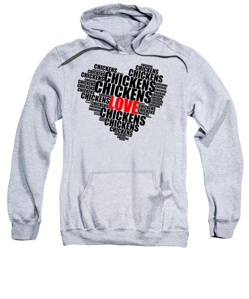 Wordcloud Love Chickens Black Sweatshirt