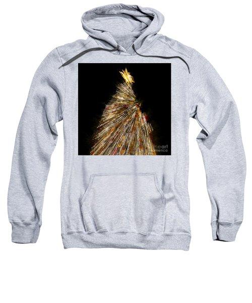 Xmas Tree Motion Art Sweatshirt