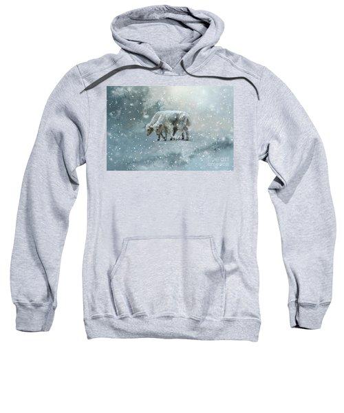 Yaks Calves In A Snowstorm Sweatshirt