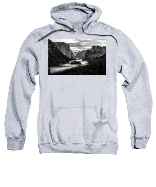 Sweatshirt featuring the photograph Yosemite Fog 1 by Stephen Holst