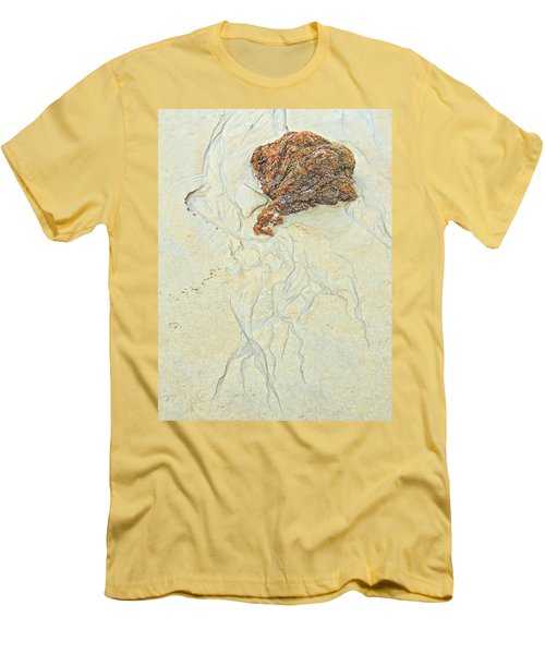 Beach Sand  2 Men's T-Shirt (Slim Fit) by Marcia Lee Jones